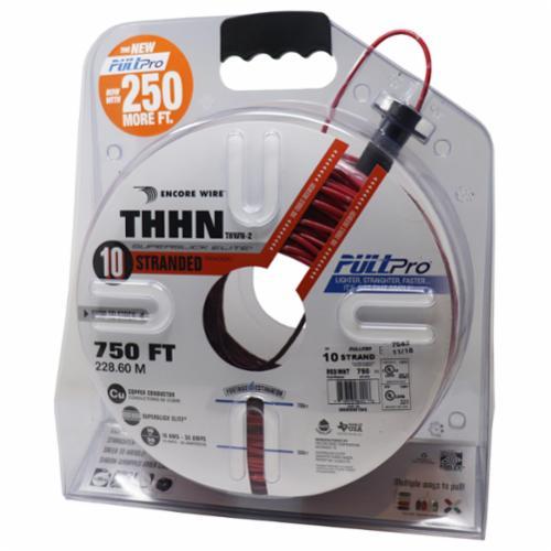 Encore Wire THHN-CU-10-STR-RED/WHT-1500FT-PP