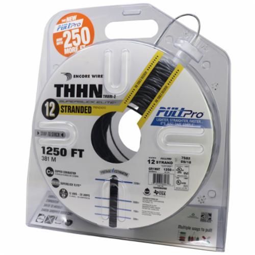 Encore Wire THHN-CU-12-STR-GRY/BRN-2500FT-PP