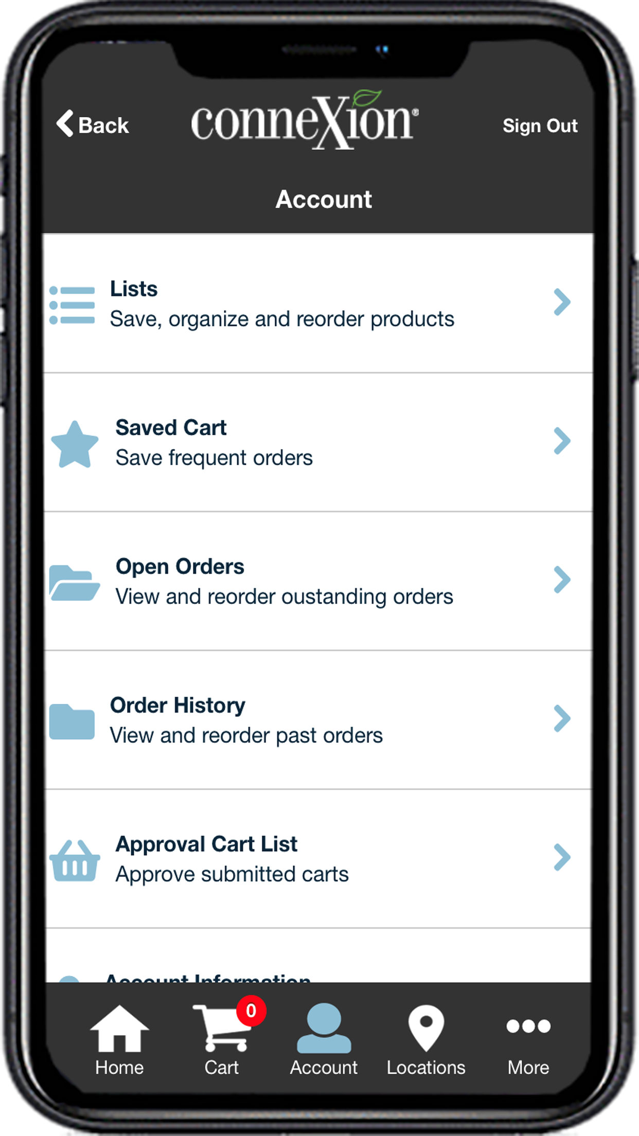 Manage saved lists and carts with ease