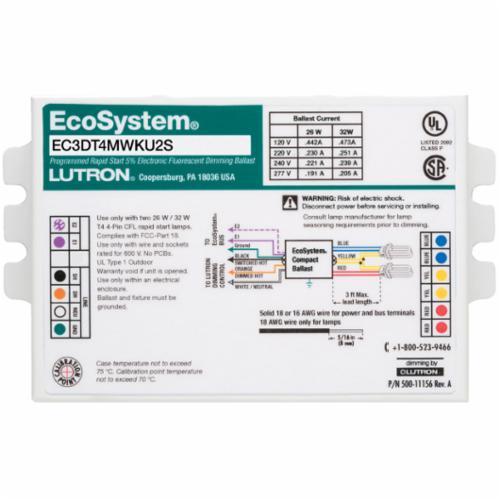 Lutron® EC3DT4MWKU1S