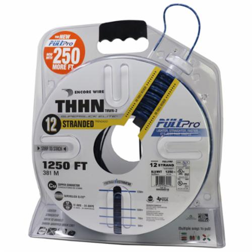 Encore Wire THHN-CU-12-STR-BLU/WHT-2500FT-PP