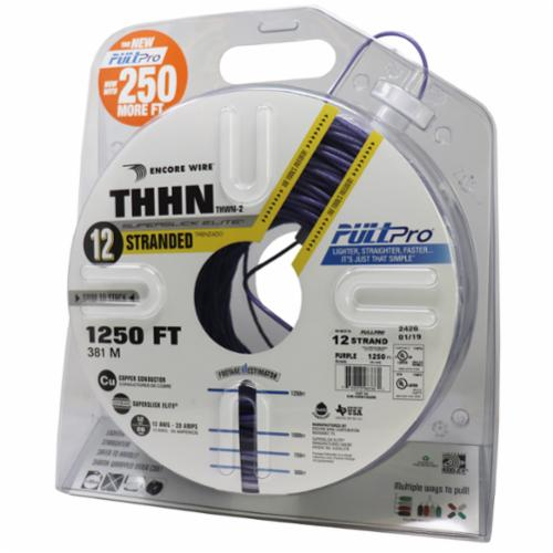Encore Wire THHN-CU-12-STR-PUR-2500FT-PP