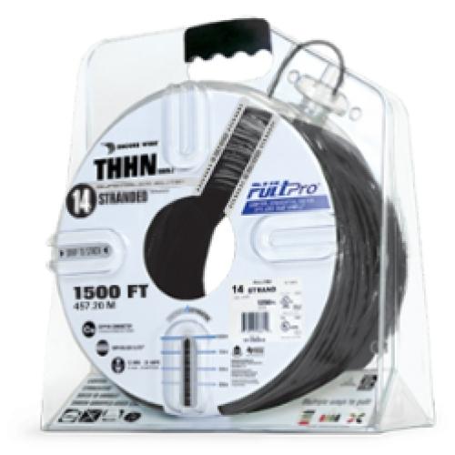 Encore Wire THHN-CU-14-STR-BLK-3000FT-PP