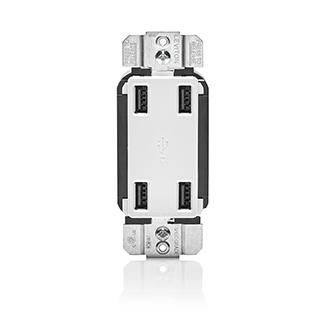 Leviton® USB4P-W